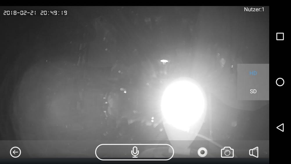 Videoüberwachung von innen durch eine Fensterscheibe ...